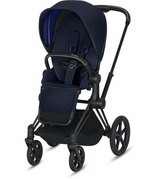 Cybex Epriam Matte Black Frame + indigo Blue Seat