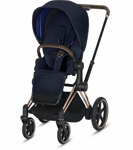 Cybex Epriam Rose Gold Frame + indigo Blue Seat