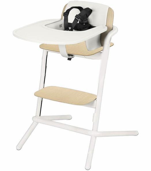 Cybex Lemo Highchair Wood One Box Porcelain White in White