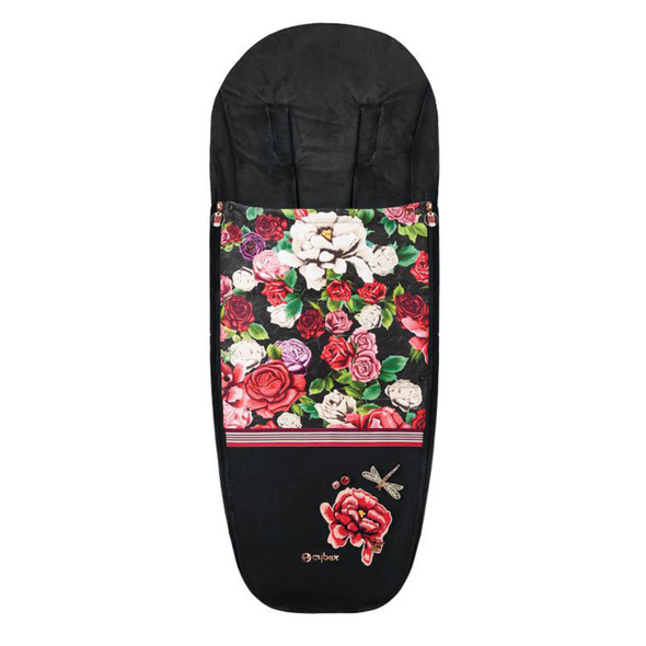 Cybex Platinum Footmuff Spring Blossom Dark in Black