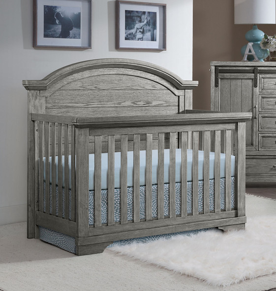 Westwood Foundry Arch Top Convertible Crib in Brushed Pewter