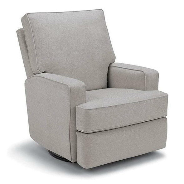 Best Chairs Kersey Swivel Glider Recliner in Dove