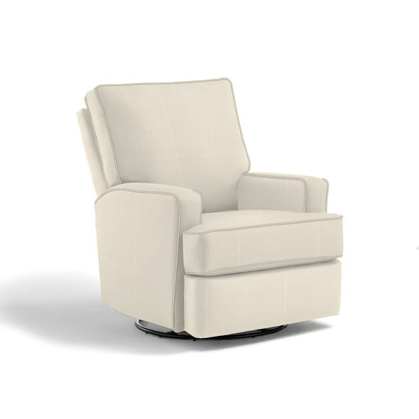 Best Chairs Kersey Swivel Glider Recliner in Granite