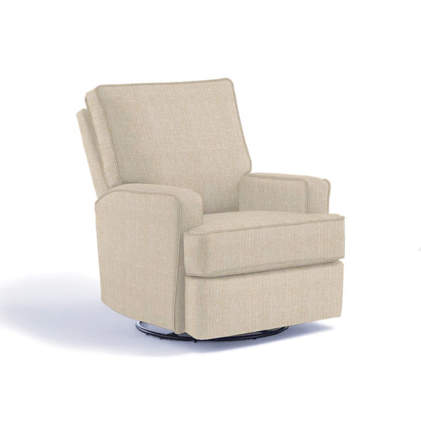 Best Chairs Kersey Swivel Glider Recliner in Snow