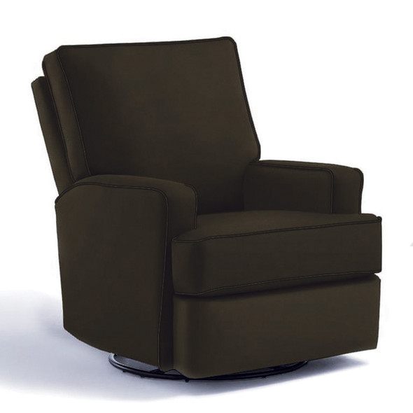 Best Chairs Kersey Swivel Glider Recliner in Caviar