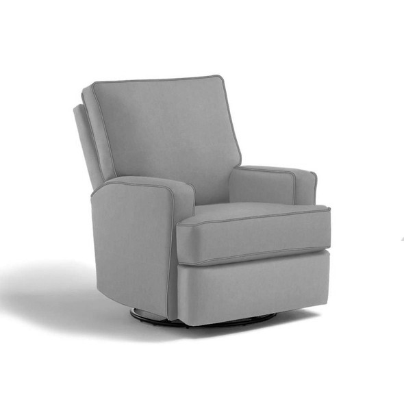 Best Chairs Kersey Swivel Glider Recliner in Dove-1