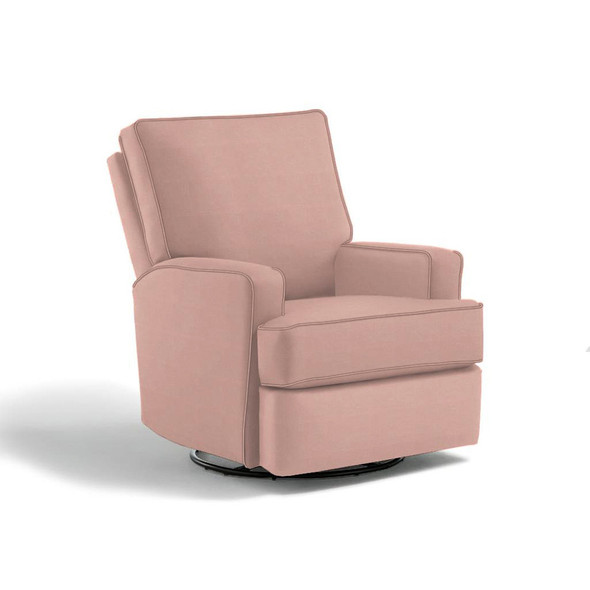 Best Chairs Kersey Swivel Glider Recliner in Light Grey