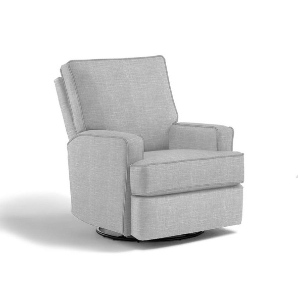 Best Chairs Kersey Swivel Glider Recliner in Light Dove