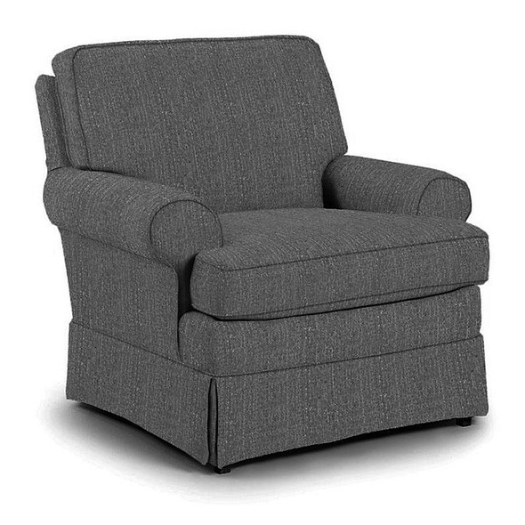 Best Chairs Quinn Swivel Glider in Granite