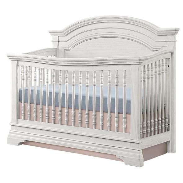 Westwood Olivia 3 Piece Nursery Set Arched Crib in Brushed White
