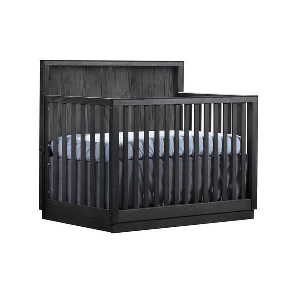 Natart Valencia Convertible Crib in Black Chalet
