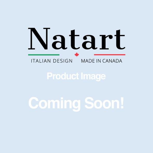 Natart Bella Tufted Panel in Grey Linen