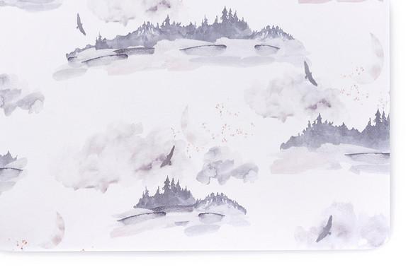 Oilo Misty Mountain Jersey Crib Sheet