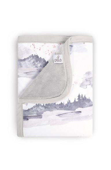 Oilo Misty Mountain Jersey Cuddle Blanket