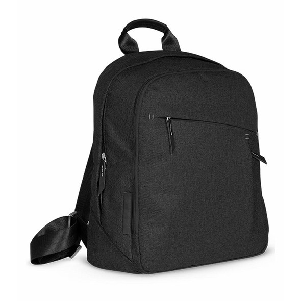 UPPA Baby Changing Backpack - JAKE (Black/Black Leather)