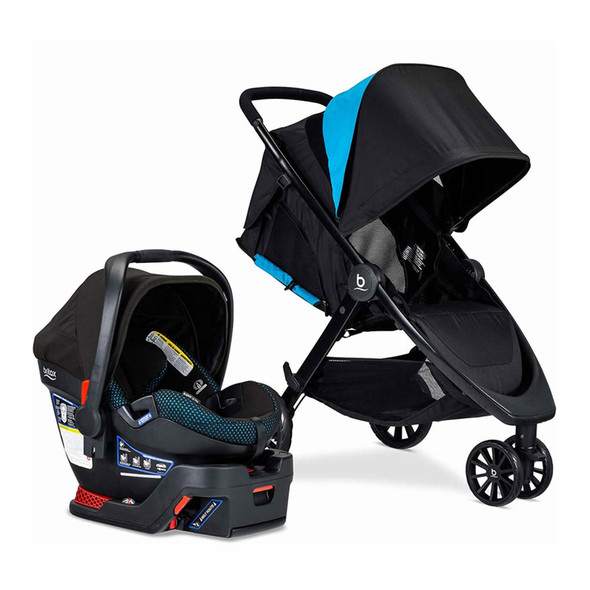 Britax B-Lively Travel System with B-Safe Ultra Infant Car Seat in Cool Flow Teal