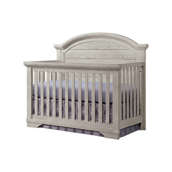 Westwood Foundry 2 Piece Nursery Set - Arched Crib and 5 Drawer Chest in White Dove