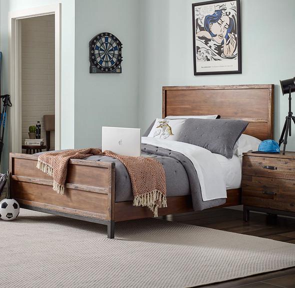 ED Ellen DeGeneres Greystone Collection Full Bed in Hewn Brown-1