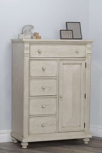Baby Cache by Heritage Sedona Chifferobe in Vintage Ivory
