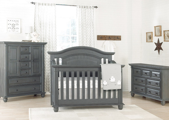 Oxford Baby London Lane 3 Piece Nursery Set in Arctic Gray