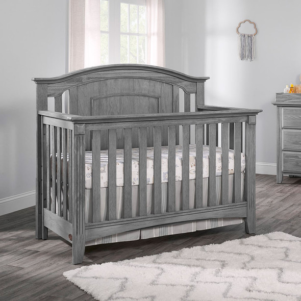 Oxford Baby Willowbrook 2 Piece Nursery Set - Crib and 6 Dr Dresser in Graphite Gray