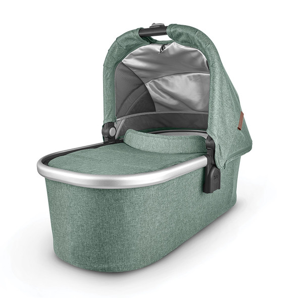 Uppa Baby Bassinet - Emmett(Green Melange/silver/saddle leather)
