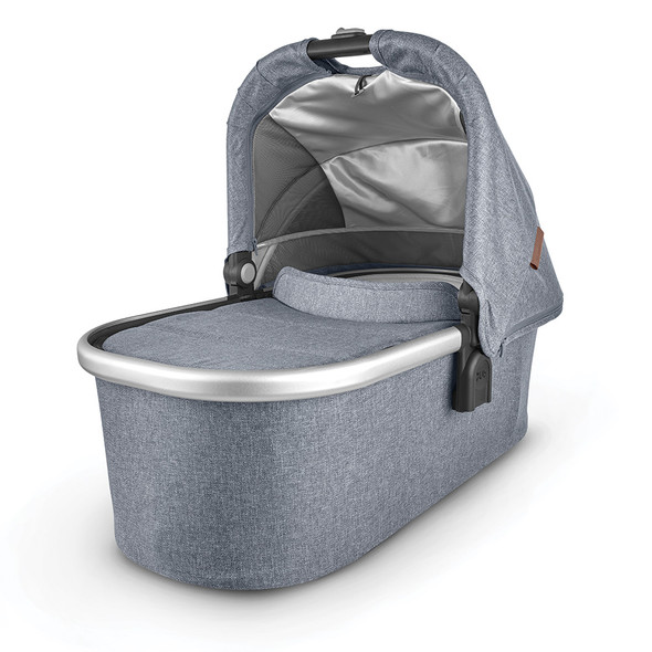 Uppa Baby Bassinet - Gregory (blue Melange/silver/saddle leather)