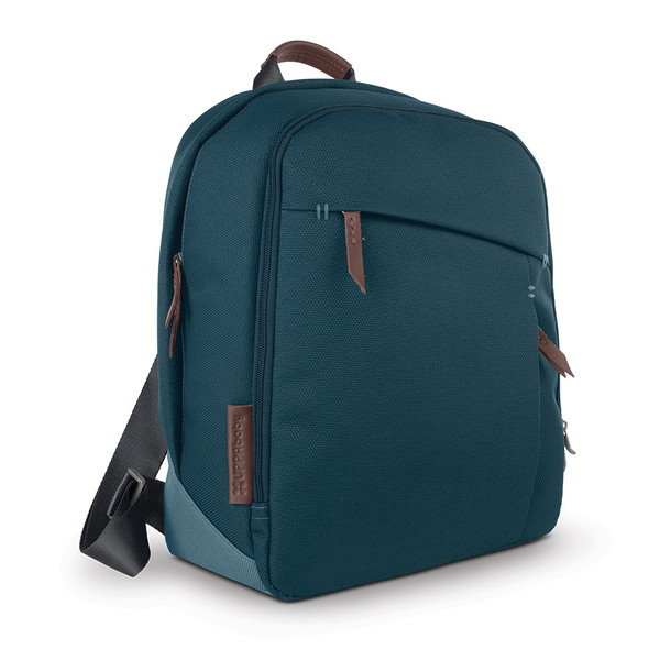 UPPAbaby Changing Backpack - Finn (Deep Sea/Chestnut Leather)