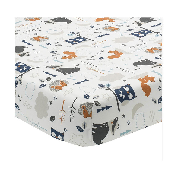 Lambs & Ivy Whimsical Woods 3-Pc - Quilt, sheet & crib skirt