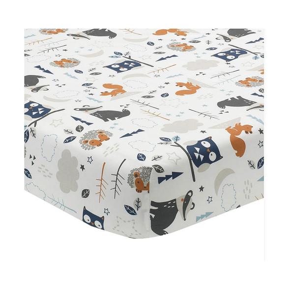 Lambs & Ivy Whimsical Woods 3-Pc - Quilt, sheet & crib skirt