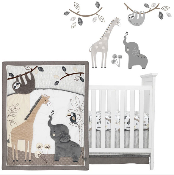 Lambs & Ivy Baby Jungle 4-Piece Bedding Set