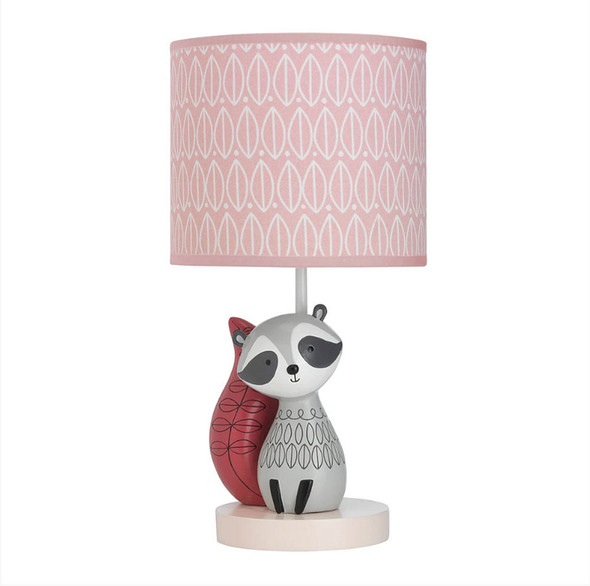 Lambs & Ivy Little Woodl& Lamp w/Shade & Bulb