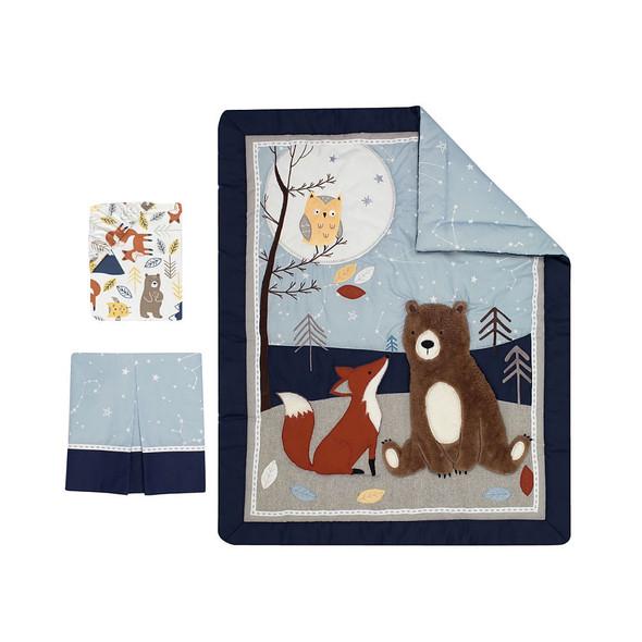 Lambs & Ivy Sierra Sky 3-Pc - Quilt, sheet & crib skirt