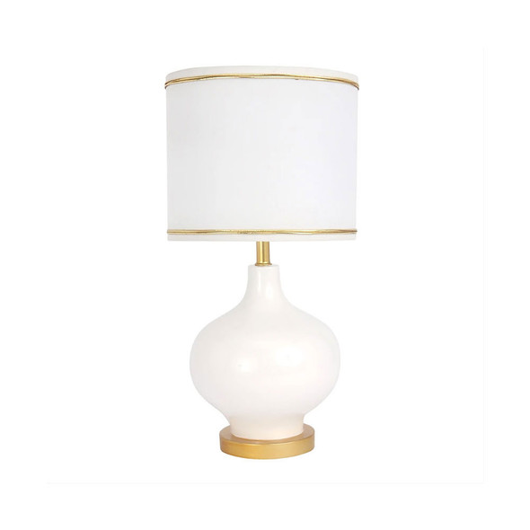 Lambs & Ivy Swan Princess - Signature White Hi-Gloss Lamp w/Shade & Bulb