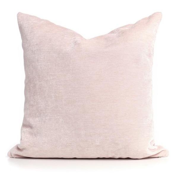 """Oilo 18""""x 18"""" Pillow- Velveteen Blush"""