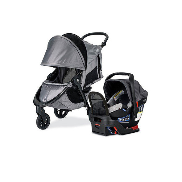 Britax B-Free and Endeavours Travel System in Asher
