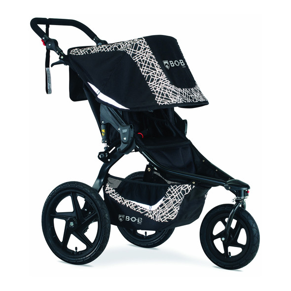 BOB Revolution Flex 3.0 Jogging Stroller in Lunar Black