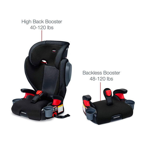 Britax USA Skyline 2-Stage Belt-Positioning Booster Car Seat - Highback and Backless in Cool Flow Grey