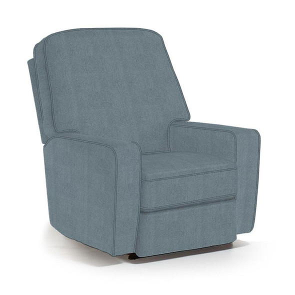 Best Chairs Bilana Swivel Glider Recliner in Blue Slate