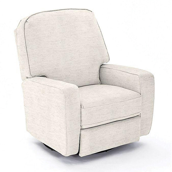 Best Chairs Bilana Swivel Glider Recliner in Linen