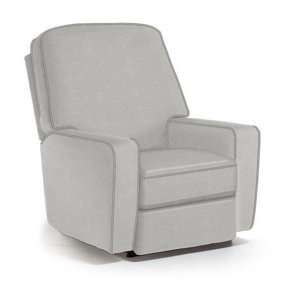 Best Chairs Bilana Swivel Glider Recliner in Grey