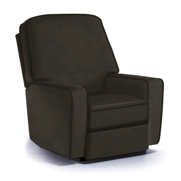 Best Chairs Bilana Swivel Glider Recliner in Caviar