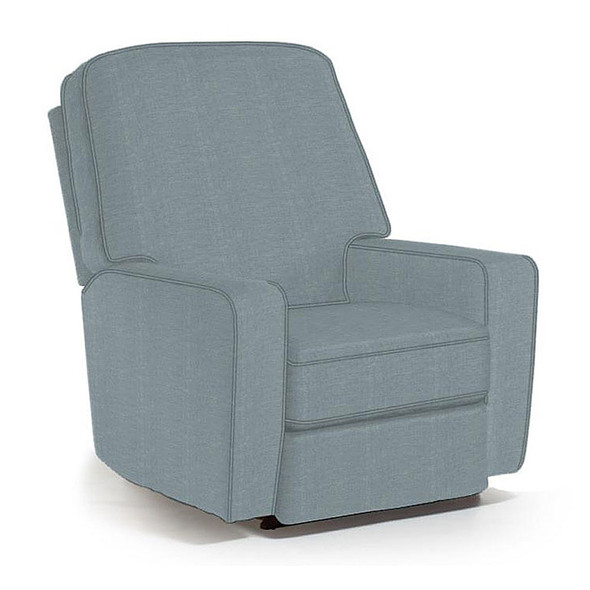 Best Chairs Bilana Swivel Glider Recliner in Ultramarine