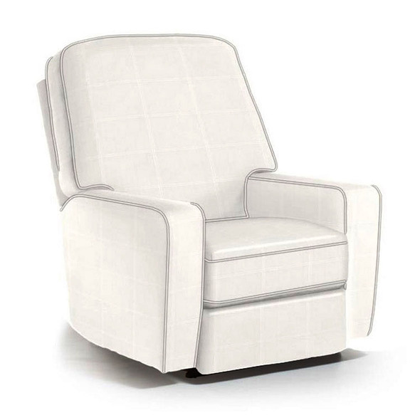 Best Chairs Bilana Swivel Glider Recliner in Ecru