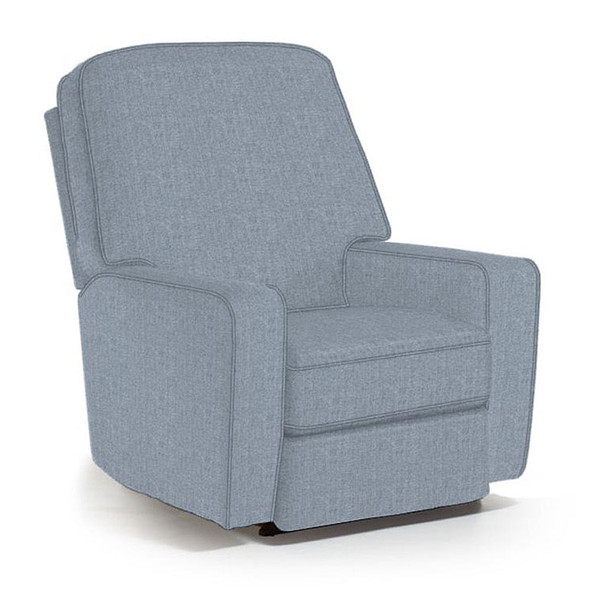 Best Chairs Bilana Swivel Glider Recliner in Sky