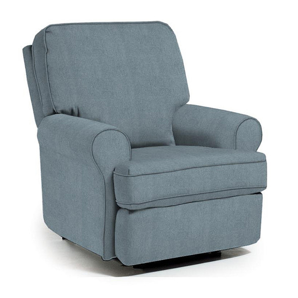 Best Chairs Tryp Swivel Glider Recliner in Blue Slate