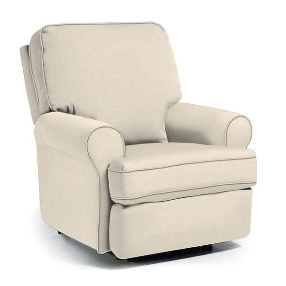 Best Chairs Tryp Swivel Glider Recliner in Taupe
