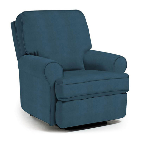 Best Chairs Tryp Swivel Glider Recliner in Navy
