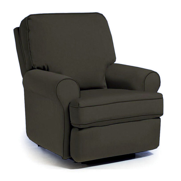 Best Chairs Tryp Swivel Glider Recliner in Caviar