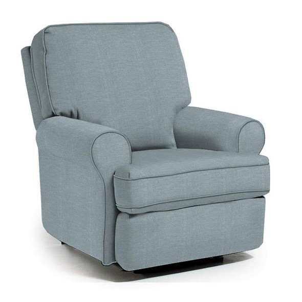 Best Chairs Tryp Swivel Glider Recliner in Ultramarine